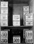 D.c. Photo Prints - Cash Vault Of The United States Print by Everett