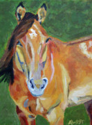 Chestnut Horse Paintings - Casino by Anne West