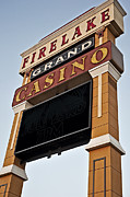 Flashing Photo Prints - Casino  Print by Malania Hammer