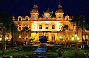 Luxury Digital Art Acrylic Prints - Casino Monte Carlo Acrylic Print by Jeff Kolker