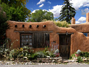 Adobe Prints - Casita de Santa Fe Print by Kurt Van Wagner