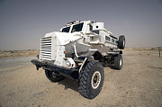 Iraq Prints - Casper Armored Vehicle Sits Print by Terry Moore