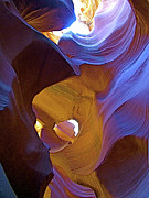 Peter Lik Framed Prints - CASPERS CORNER in Lower Antelope Canyon Framed Print by Ruth Hager