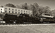 Wv Locomotive Photos - Cass Railway WV sepia by Steve Harrington