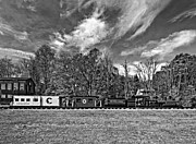Wv Locomotive Photos - Cass Scenic Railroad monochrome by Steve Harrington