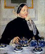 Aristocracy Photos - Cassatt: Lady At Tea, 1885 by Granger