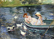 1894 Prints - Cassatt: Summertime, 1894 Print by Granger