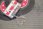 Audio Prints - Cassette Tape Forming Heart Print by Isabelle Lafrance Photography