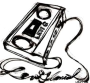 Hip Drawings - Cassette Unwound into Levi Glassrock by Levi Glassrock