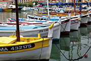 Sailboats Docked Framed Prints - Cassis Boats Framed Print by Brian Jannsen