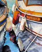 Bouys Paintings - Cassis Castaways by Rae Andrews