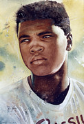 Featured Painting Prints - Cassius Clay Print by Rich Marks