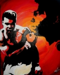 Cassius Clay Paintings - Cassius by Matt Burke