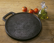 Olive Oil Prints - Cast Iron Skillet Print by Sheila Terry