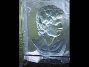 Hair Glass Art - Cast Roman Davids Bust by David  Helg