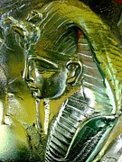 Steel Glass Art - Cast Tutankhamun by David  Helg
