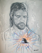 Jesus Painting Originals - Cast Your Care on Him by Raymond Doward