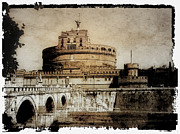 Tourist Attraction Digital Art - Castel Sant Angelo Rome by Julie Palencia
