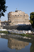 Sites Tapestries Textiles Prints - Castel SantAngelo Castle. Rome Print by Bernard Jaubert