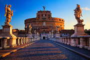 Typical Framed Prints - Castel SantAngelo Framed Print by Inge Johnsson