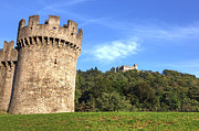 Battlements Prints - Castello Montebello and Sasso Corbaro in Bellinzona Print by Joana Kruse