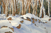 Drifting Snow Painting Prints - Casting Shadows Print by Daydre Hamilton