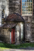 Stone Roof Framed Prints - Castle - The hidden door in the back Framed Print by Mike Savad