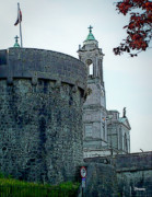 Colorful Buildings Posters - Castle and Church Athlone Ireland Poster by Teresa Mucha
