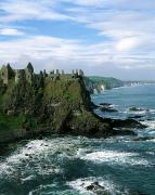 Medieval Castle Photos - Castle At The Seaside, Dunluce Castle by The Irish Image Collection 