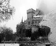 Winter Prints Posters - Castle Bojnice Poster by Renata Vogl
