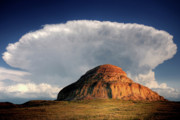 Summer Digital Art Metal Prints - Castle Butte in Big Muddy Valley of Saskatchewan Metal Print by Mark Duffy
