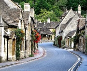 Golds Photo Framed Prints - Castle Combe Framed Print by Diane Height