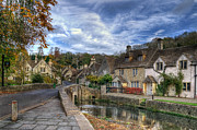 Old Houses Prints - Castle Combe England Print by Ann Garrett