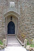 Entrance Door Posters - Castle Entrance Poster by Suzanne Gaff