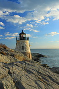 Castle Hill Lighthouse Newport Rhode Island Print by John Burk