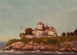 Ri Lighthouse Prints - Castle Hill Newport RI Print by Betty Ann Morris