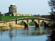 Garden Bridge Posters - Castle Howard Poster by Svetlana Sewell