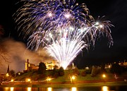 Celebration Art Print Prints - Castle Illuminations Print by John Kelly