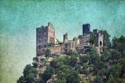 River Rhine Prints - Castle Liebenstein Print by Angela Doelling AD DESIGN Photo and PhotoArt