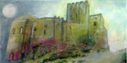 Spain Pastels - Castle Loarre Huesca Spain by Lydia L Kramer