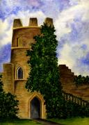 Ages Painting Prints - Castle Print by Michael Vigliotti
