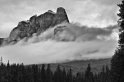 Johnston Framed Prints - Castle Mountain Framed Print by Bernard Chen