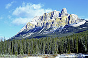 Canada Art Photo Acrylic Prints - Castle Mountain Glory Acrylic Print by Andrea Hazel Ihlefeld