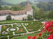 Maze Art - Castle of Gruyeres Switzerland by Marilyn Dunlap