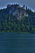 Slovenia Photos - Castle of Lake Bled by Don Wolf