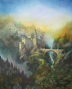 Reminiscent Prints - Castle of the Holy Grail Print by Raymond Frans