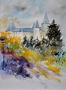 Castle Of Veves Belgium Print by Pol Ledent