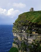 Cliffs Over Ocean Metal Prints - Castle On A Cliff, Obriens Tower Metal Print by The Irish Image Collection