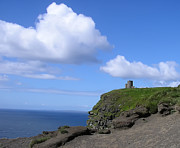 Bluesky Metal Prints - Castle on the Cliffs of Moher Metal Print by Bill Cannon