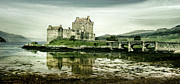 Historical Buildings Posters - Castle Reflections Poster by Linde Townsend